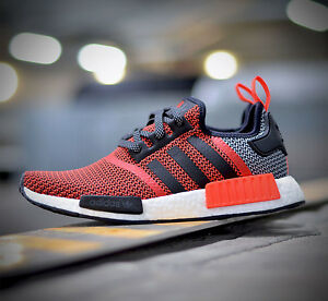 reputable site 793f0 a5732 Image is loading Adidas-NMD-R1-Runner-S79158-Lush-Red-All-