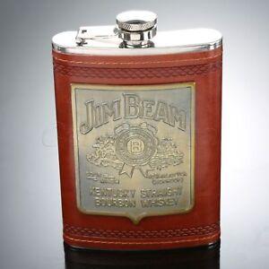 Portable-Liquor-Whiskey-Alcohol-Flagon-Stainless-Steel-Hip-Flask-Wine-Bottle-9oz