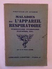 MALADIES DE L'APPAREIL RESPIRATOIRE TUBERCULOSE PULMONAIRE PLEURESIE 1931 ILLUST
