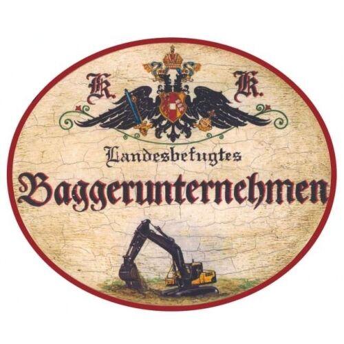 Baggerunternehmen Nostalgieschild