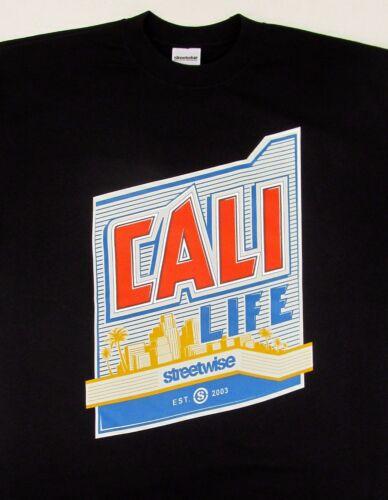 STREETWISE CALI LIFE T-shirt California Tee Adult Men  Black New