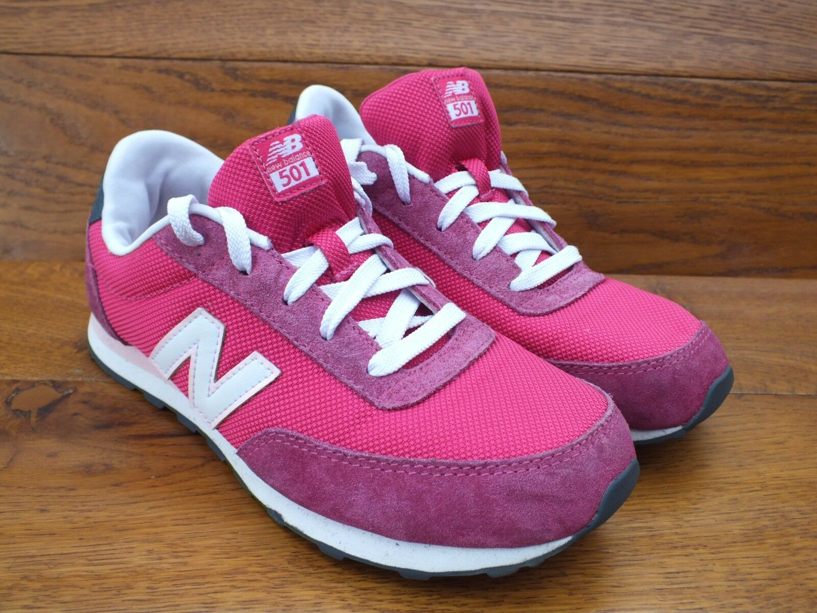 New Balance 501 Pink Casual Trainers Size