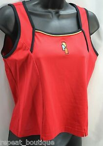 Lilys-Lily-of-Beverly-Hills-running-nylon-sleeveless-tank-top-shirt-Red-SZ-M-NEW