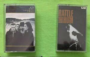 U2 - The Joshua Tree (1987) & Rattle and Hum (1988) - Island Records 2 Cassettes