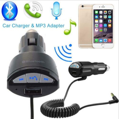 Bluetooth Handfree Car MP3 AUX Stereo Audio Aapter USB Charger For Samsung S6 GA