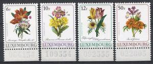 Luxembourg-1988-Mi-1190-1193-Neuf-100-Fleurs