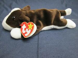 Image is loading TY-BEANIE-BABIES-COLLECTION-ORIGINAL-BRUNO-BROWN-WHITE- 291e202a8d8