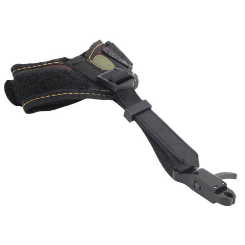 Archery Release Aids High Strength Buckle Compound Bow Wrist Straps Black