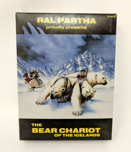 Ral-Partha-Bear-Chariot-of-the-Icelands-Complete-In-Box-10-410-Lead-Miniature