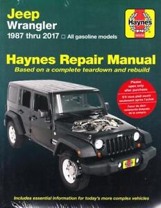 1987 2017 jeep wrangler haynes repair service workshop shop manual rh ebay com 88 YJ Interior 88 YJ Interior