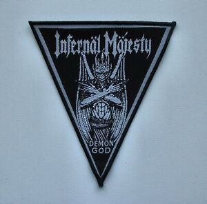 INFERNAL-MAJESTY-DEMON-GOD-Woven-Patch-Razor-Sacrifice-Morbid-Saint