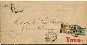 1911-Cinquantenario-dell-039-Unita-d-039-Italia-2-cent-su-Busta-Raccomandata-Teramo
