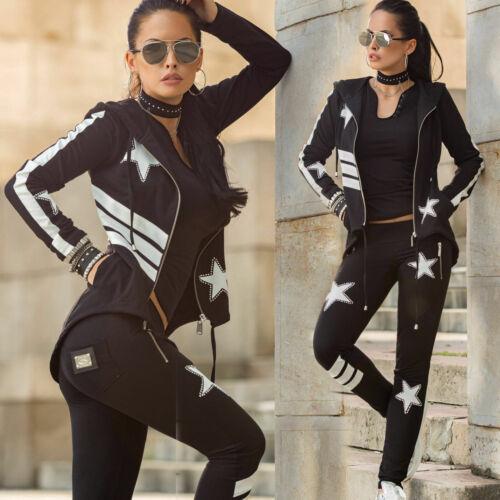 Jacke Freizeitanzug Hausanzug 34-38 #B360 Mexton 2-Teiler Damenanzug Hose