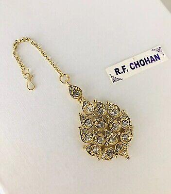 Gold Diamante Tikka Headpiece Hair Chain Hijab Indian Pakistani