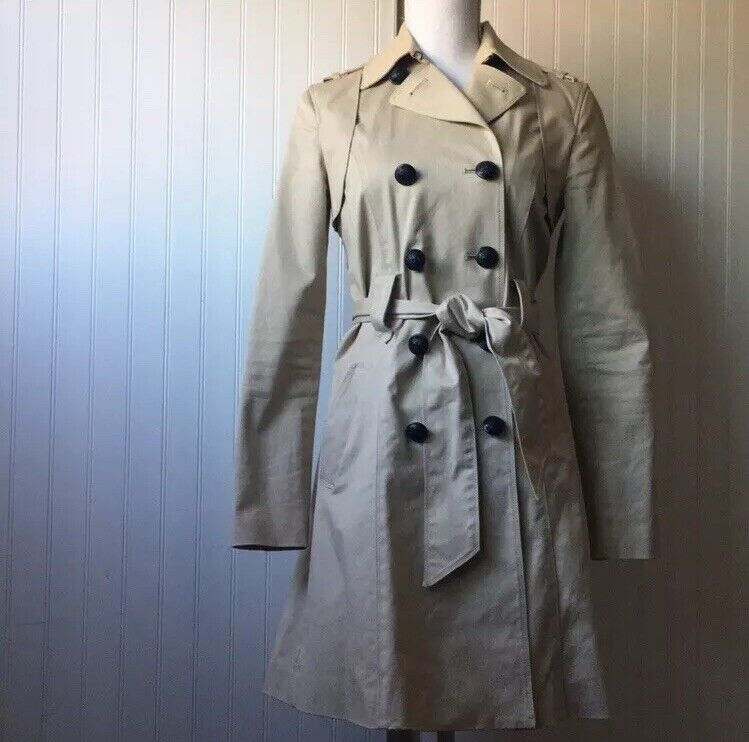 Armani Exhange Womens Trench Coat Size Small Petite