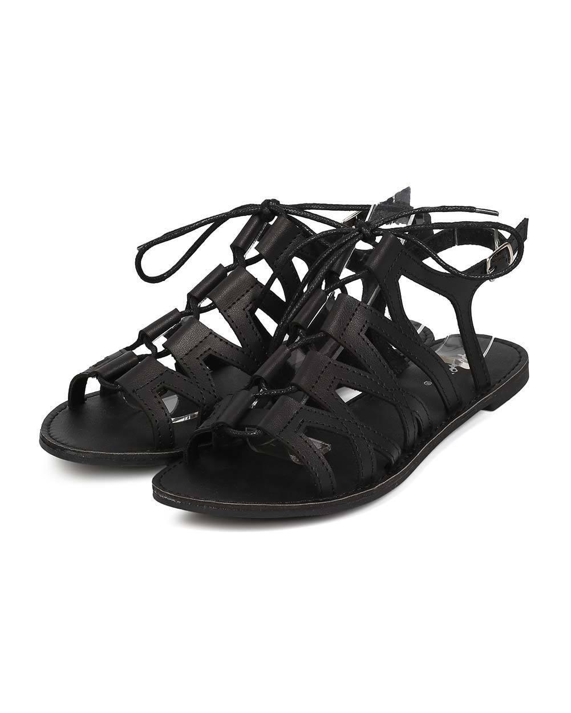 New Women Qupid Athena-889 Leatherette Sandal Open Toe Slingback Gladiator Sandal Leatherette Size bca283