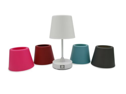 Pink Pair Roane LED Rechargeable Wireless Table Lamps for indoor and outdoor