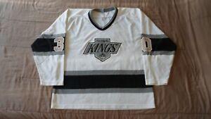Vintage-Los-Angeles-Kings-White-30-Men-039-s-Size-XL-NHL-Hockey-Jersey