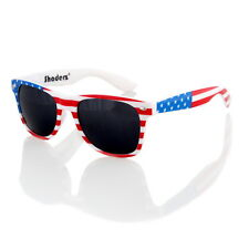 9378509af75 White Patriotic USA American Flag Print Clear Lens Geeky Nerd Eye ...