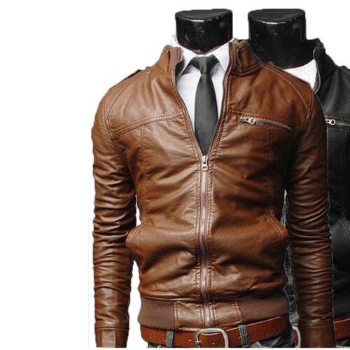 US Men Leather Jacket Hommes veste cuir Herren Lederjacke chaqueta cuero M3pp8