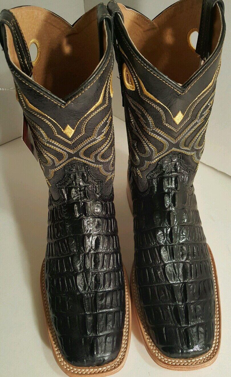 herren WESTERN COWBOY Stiefel,schwarz, RODEO , , , CROCODILE PRINT, Größe 7 b864dc