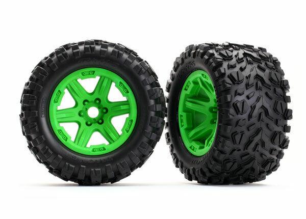 Traxxas 8672G Tires & wheels, assembled, glued Brand NEW