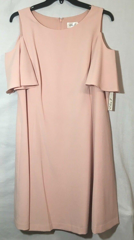 New Eliza J Cold Shoulder Light Pink Sz 20W