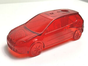 Volkswagen VW Jetta Pen/Pencil Holder Clear RED Hard-To-Find LA Auto Show