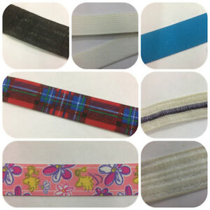 Clearance Elastics Various Widths & Colours 5 Metres £2.49