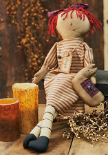 New ANGIE with her Cat Country Primitive Folk Art Doll