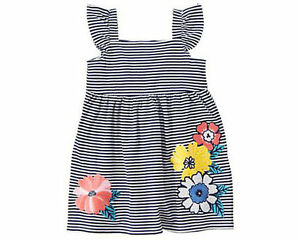 bf9f7c0e3838 Image is loading NWT-Gymboree-Tropical-Breeze-Striped-Flower-Dress-2T-