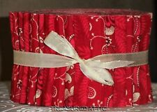 """Quilting Fabric Jelly Roll Strips 20~2.5"""" Red Cream White Off White Quilt Fabric"""