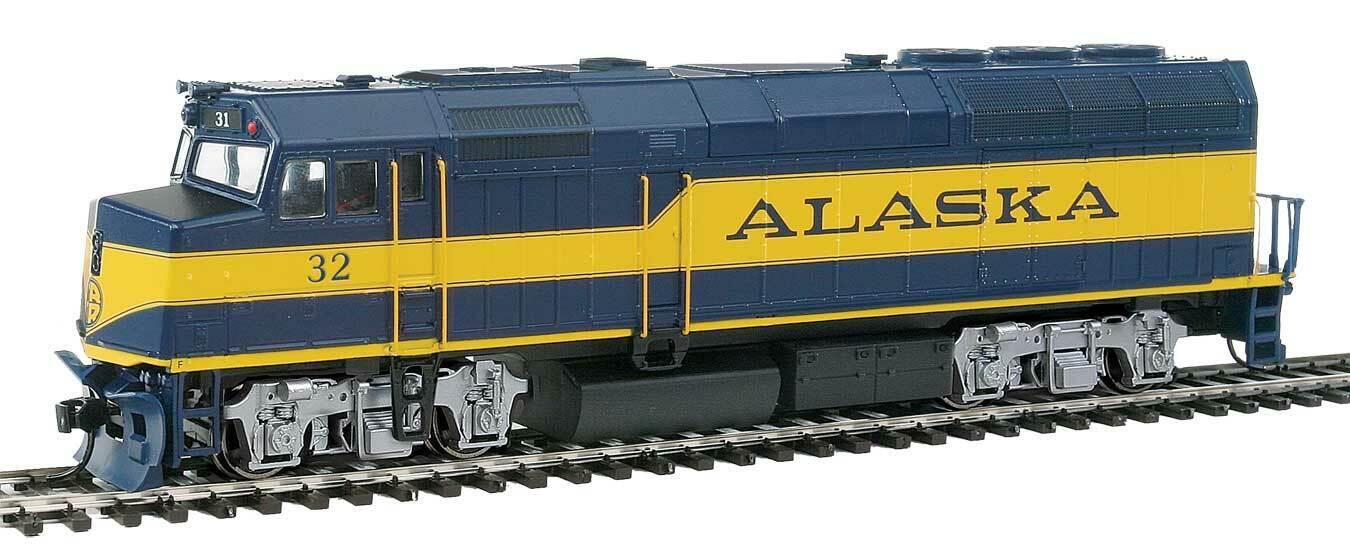 Escala H0 - Locomotora Diésel EMD F40PH Alaska Railroad Digital con Sonido 19456