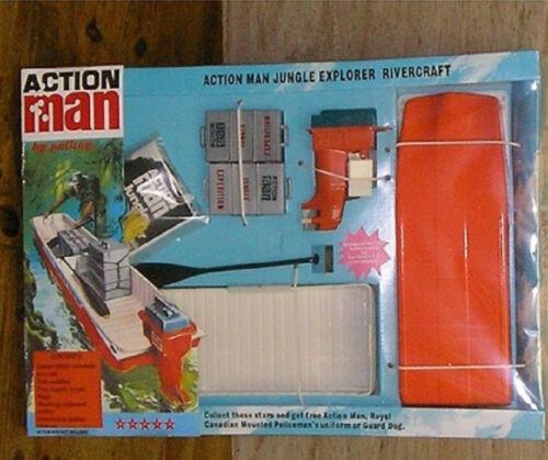 Vintage Action Man 40th cardée//Coffret Jungle Explorer River Craft échelle 1//6
