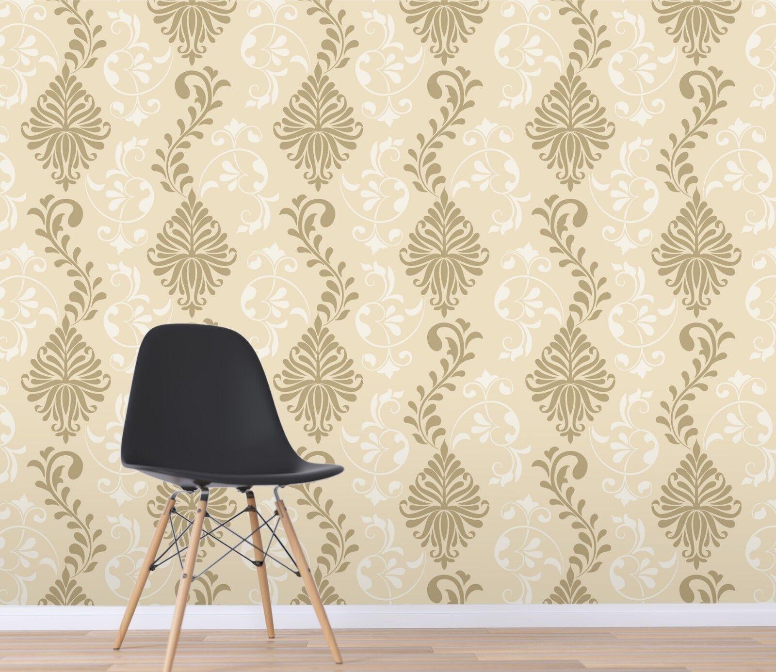 3D Arabesque 24 Wallpaper Mural Print Wall Indoor Wallpaper Murals UK Lemon