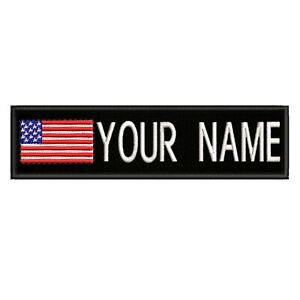 """B Custom Embroidered Name Tag Sew on Patch Motorcycle Biker Patches 4/"""" x 1/"""""""
