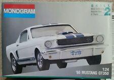 Monogram 1966 66 Ford Mustang GT350 Model Car Kit Shelby Revell Johan Vintage
