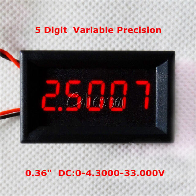 Red 5 Digit DC 0-4.3000-33.000V Precision Digital Voltmeter Voltage Metre Panel