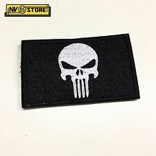 Patch Ricamata Skull Sniper Punisher Navy Seals 8 x 5 cm Militare con Velcro BK