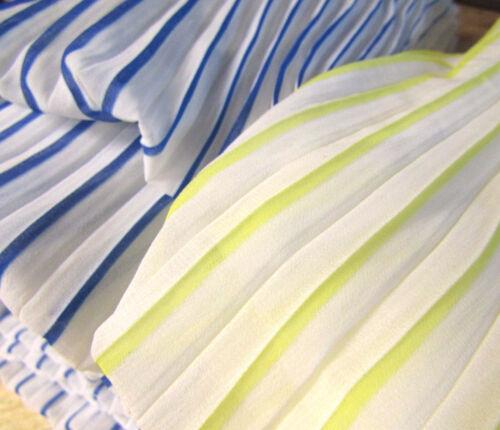 Ready Pleated Chiffon Fabric Two-tone Chiffon Accordion Dressmaking Ruffled