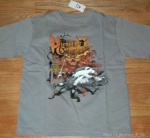 NEUF DISNEY STORE Pirates of the Caribbean Jack Sparrow Tee T-shirt XS-S 4-5//6