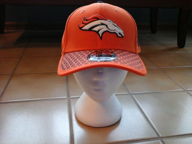 sports shoes 2d5a8 9450a Denver Broncos New Era 39THIRTY Official Sideline Orange Hat