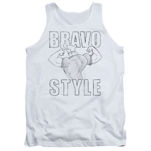 JOHNNY BRAVO STYLE Flexing Sketch Adult Tank Top All Sizes