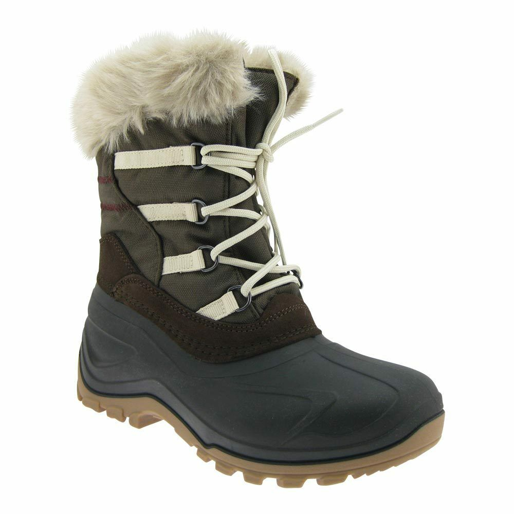 Espiral señora botas de invierno botas alimentados nieve botas cálidas forro