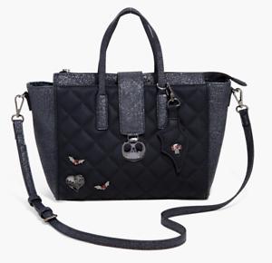 Nightmare Before Christmas Purses Handbags.Details About Disney Nightmare Before Christmas Purse Quilted Icon Black Satchel Shoulder Bag