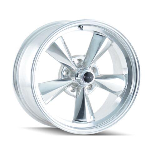 Ridler 675-5765P Single Style 675 15x7 5x114.3mm 0 Offset Polished Rim