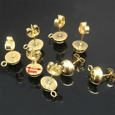 42 Piece Gold Plated Brass Earwire Earring Mix of 2 Styles *