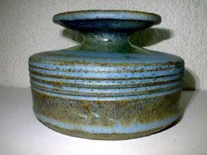 Vase-Studio-Pottery-Modernist-Heavy-Schwer-Fat-Lava-Era-60s-70s-H-7-7-cm