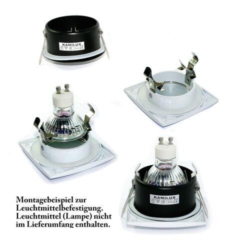 Instalación cuadradas lámpara Aquarius-s cuadrada gu10 230v 3w = 25w SMD LED ip44