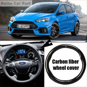 For-Ford-Focus-Carbon-Fiber-Leather-Steering-Wheel-Cover-Sport-Racing-case